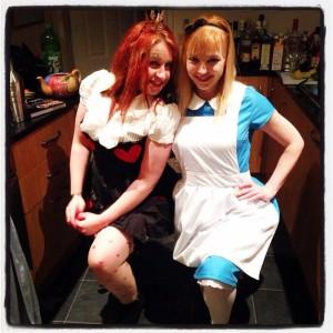 Queen of Hearts & Alice in Wonderland costumes
