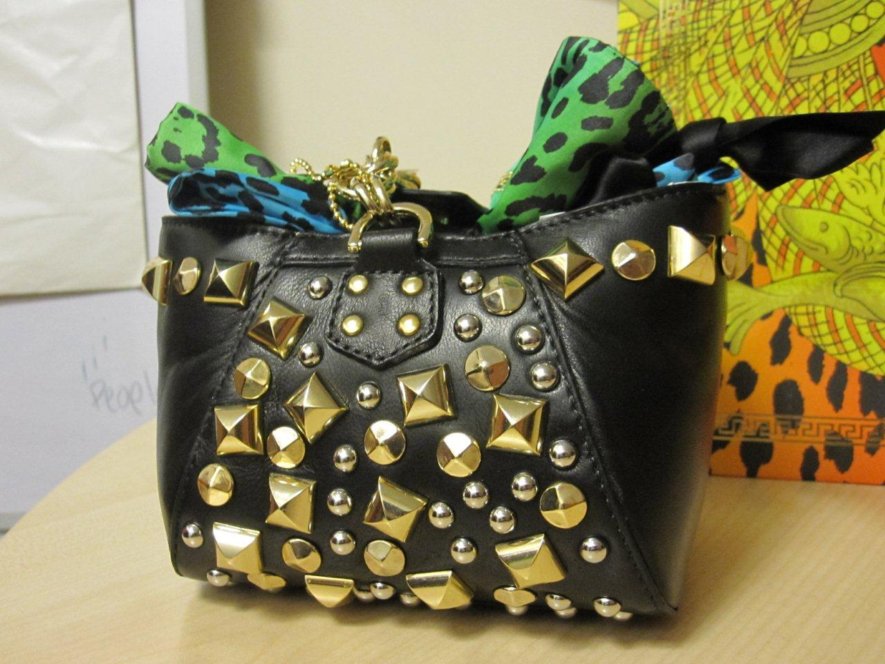 0dd271c1dedb Versace at H M bag with gold studs - Pose83