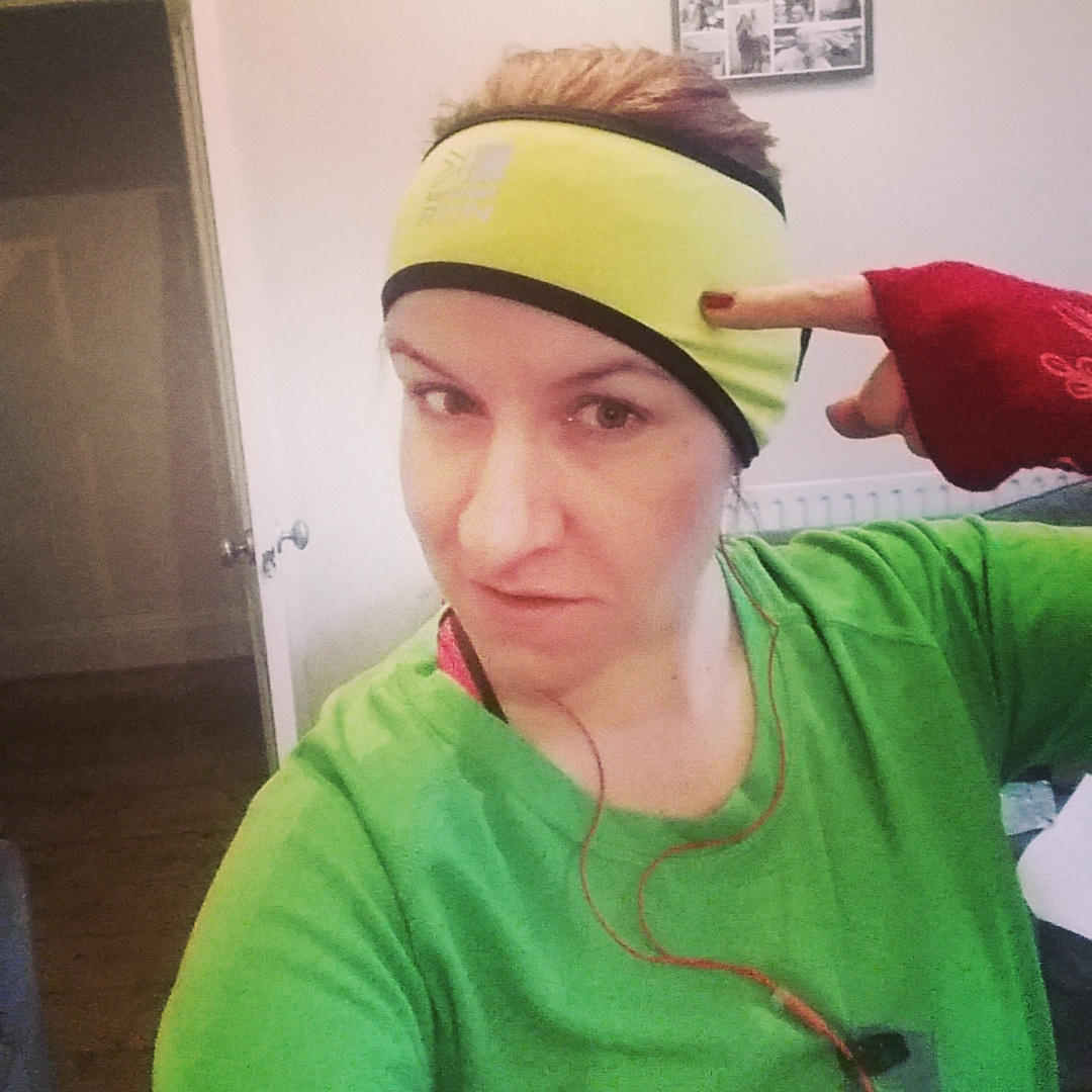 Karrimor Xlite Headband in fluorescent yellow