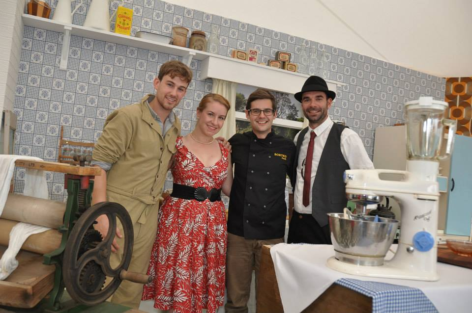 Sorted Food at Goodwood Revival 2014 sponsored by Kenwood (left to right: Mike - Sorted Food, me, Ben - Sorted Food, Rich - Auto Poole for AHR)