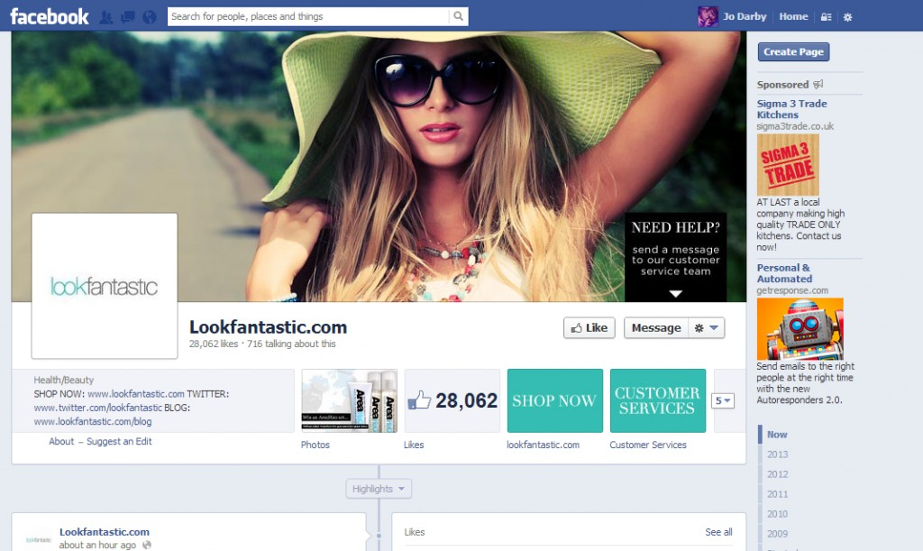 Look Fantastic Facebook Page