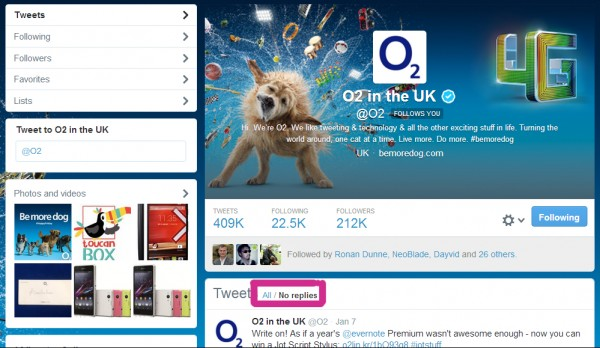 O2 Customer Service Replies