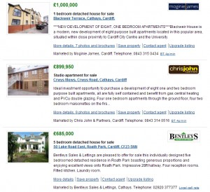 Property listings - search results